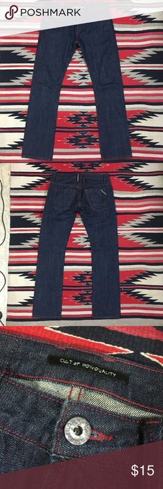 Selvedge Jeans by Cult of Individuality. 32W 34L. Straight Fit Selvedge Denim by Cult of Individuality. 32W 34L. True to size. Worn condition but it's Selvedge Denim and lasts forever. Cult of Individuality Jeans Straight