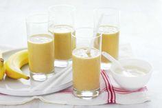 Weet-Bix, orange & banana smoothie with peanut butter