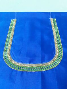Kids Blouse Designs, Simple Blouse Designs, Blouse Designs Silk, Bridal Blouse Designs, Hand Designs, Aari Embroidery, Couture Embroidery, Mirror Work Blouse Design, Maggam Work Designs
