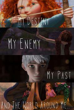 Brave, Jack Frost, and Merida image Frases Disney, Disney Jokes, Funny Disney Memes, Disney Dream, Disney Magic, Disney Art, Disney And Dreamworks, Disney Pixar, Walt Disney
