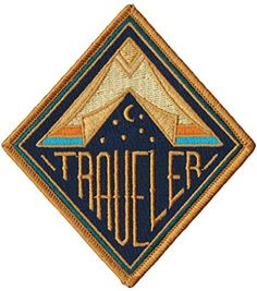 Asilda Store Traveler Embroidered Sew or Iron-on Patch