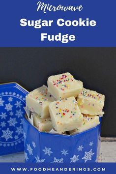15 minutes · Vegetarian · Serves 25 · This easy microwave Sugar Cookie Fudge is easy, quick, delicious and tastes just like sugar cookies. Cake and cookie emulsion is used instead of cake mix, so it does not add additional sweetness. It's… More Cacao Recipes, Fudge Recipes, Dessert Recipes, Sugar Cookie Cakes, Sugar Cookies Recipe, Bake Sale Packaging, How To Make Fudge, Bake Sale Recipes, Dark Chocolate Recipes