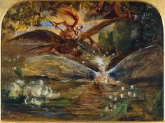 """""""The Fairy's Lake"""" by John Anster Fitzgerald"""