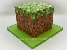 Mine craft cake!! My boys would love this!!
