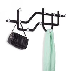 Buy the Subway Black Multi Hook from Flamingo Gifts now. Shop the full Umbra wall hooks range with free delivery over Coat Hooks On Wall, Over The Door Hooks, Wall Mounted Coat Rack, Dot And Bo, Design Industrial, Flamingo Gifts, Hook Rack, Hanging Racks, Metal Stamping