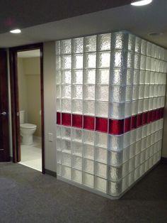 Glass blocks shower walls and glass block shower on pinterest - Glass block windows in living room ...