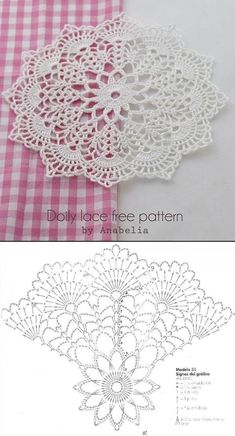 Doily by Anabelia with free chart