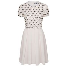 French Connection Sequin Geometric Dress, Edelweiss/Black online at John Lewis