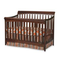 Child Craft™ Coventry 4-in-1 Convertible Sleigh Crib in Select Cherry - www.buybuyBaby.com