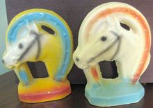 Horse in Horseshoe Bookends.
