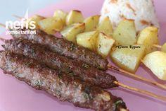 Fırında Çöp Şiş Köfte Ve Patates