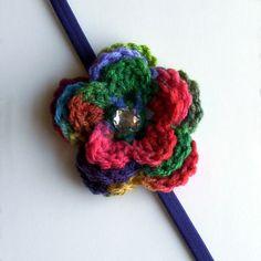 Multi Color Flower Headband