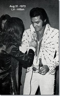 Tony Prince, British DJ and reporter, interviewed Elvis before a show - August 31, 1973. The day Elvis died Tony played his records non stop over the radio station.