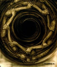Hans Rüdi Giger: Poltergeist II The Vortex HR Giger from the movie… Hr Giger Art, Xenomorph, Louise Bourgeois, Giger Alien, Alien Art, Gothic Art, Visual Effects, Sci Fi Art, Horror Art