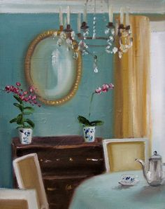 Janet Hill — Afternoon Coffee, 2008   (1155x1461)