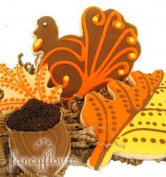 beautiful Thanksgiving Sugar Cookies