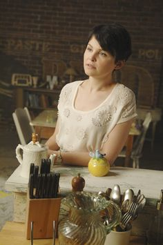 Mary Margaret's living room, from Once Upon a Time. I've been dreaming of this apartment for months... @Jennifer McKellep Matthews gave me the bluebird sugar bowl as a gift, and she's never even seen the show!