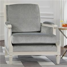 Global Views Furniture Lille Gray Chair