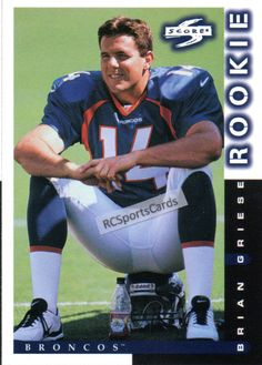 1998 Brian Griese, Broncos, Score Rookie #245, Itm#F5735 http://www.rcsportscards.com/broncos-1997---1999.html
