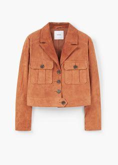 Suede jacket - Jackets for Women   MANGO USA Prêt À Porter, Croute De Cuir 45849299e84