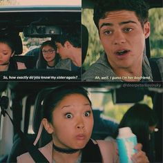 To all the boys I have loved Before Lara Jean face is so funny Allen Jungs, die ich geliebt habe, bevor Lara Jean Gesicht ist so lustig Lara Jean, Movies Quotes, Film Quotes, Netflix Quotes, Funny Quotes, Cute Relationship Goals, Cute Relationships, Love Movie, Movie Tv