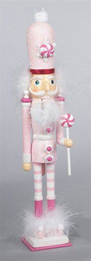 Candy Fantasy Decorative Pink Wooden Candy Kingdom Christmas Nutcracker.. Need this!!
