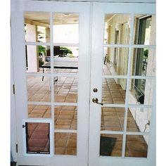 Hale Custom Door for french door (make sure the french door is made of separate panes of glass!!!
