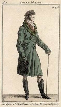 Regency Era, Regency Fashion, Men Fashion, 1810S Regency, Men'S Fashion, Parisian Costumes, Regency Men, C 1810 Costumes, Fashion 1810S