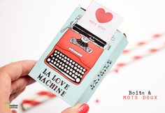 Free Love Machine Box + tuto and other printable at Madame Citron