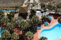 Here's a closer overhead look at the Beach Cove Resort pool area.