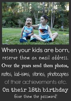 Kinda sweet thing to do for your kids haha