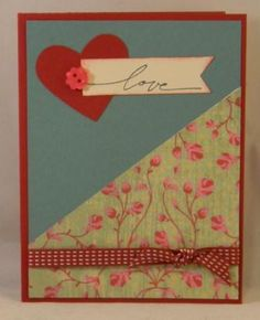 Love card using mostly Stampin' Up! materials