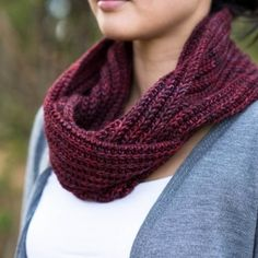 Barbara is a squishy, comfy and reversible infinity cowl perfect for layering that looks great worn single or double looped.