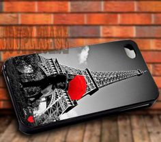 Love In Paris  iPhone 4/4s/5c/5s/5 Case  by COUPLECUSTOMSTORE, $14.88