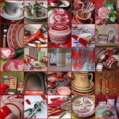 Vintage Red Kitchen Goodies