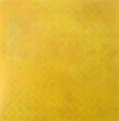 """225 Yellow Circles and 16 Layers,"" Nicole Milkovich, 2008, acrylic on panel, 36"" x 36"""
