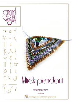 Pendant tutorial / pattern Mirek with swarovski von beadsbyvezsuzsi, $13.00