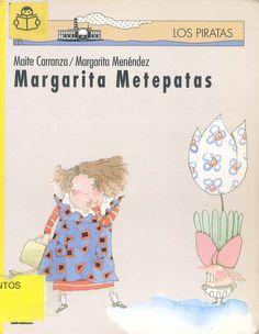 MARGARITA METEPATAS / Maite Carranza, Margarita Menéndez. Margarita no podía ni imaginarse que al regar la planta de su vecina, el agua le haría una jugada y caería en la cabeza de un papá... Búscalo en http://absys.asturias.es/cgi-abnet_Bast/abnetop?ACC=DOSEARCH&xsqf01=margarita+metepatas+carranza #soyunaniña #travesuras