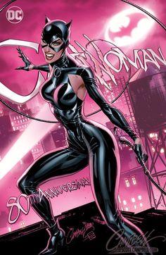 Catwoman Anniversary covers by J. Scott Campbell, colours by Sabine Rich * J Scott Campbell, Comic Book Artists, Comic Books Art, Comic Art, Julie Newmar, Harley Quinn, Costume Batman, X Men, 1960s Tv Shows