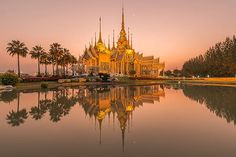 Beautiful temple at twilight time in Thailand