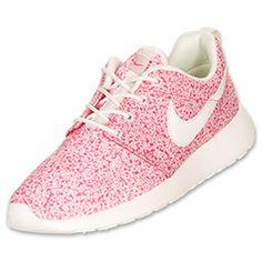 Women's Nike Roshe Run Casual Shoes| FinishLine.com | Sail/Pink Force/Sail