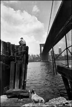 NYC. The Brooklyn Bridge by Henri Cartier-Bresson / Magnum Photos, 1947