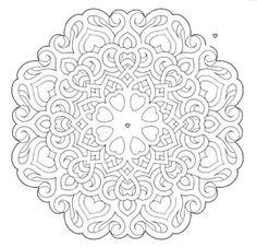 Mandala 647, Mandala Mazes Coloring Book, Dover Publications
