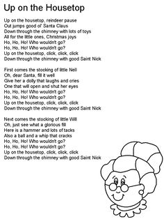 Children's Song Lyrics - Go Tell it on the Mountain   stationery children   Preschool christmas ...