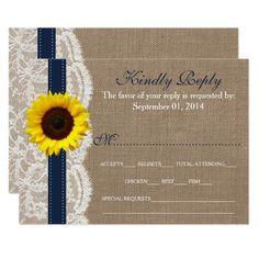 (The Rustic Sunflower Wedding Collection - Navy Card) #Barn #BarnWedding #Blue #Brown #Burlap #BurlapLaceWedding #BurlapWedding #Chic #Collections #Country #Elegant #Lace #LaceWedding #Marriage #MatchingWedding #Navy #NavyWedding #New #Reply #RibbonWedding #Romantic #Rsvp #Rustic #RusticWedding #Sunflower #SunflowerWedding #Wedding #WeddingCollections #Weddings #White #WoodlandWedding is available on Custom Unique Wedding Invitations  store  http://ift.tt/2apS8nv #weddinginvitation…