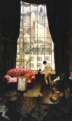 Christopher Richard Wynne Nevinson, A Studio in Montparnasse, 1926