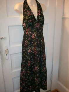 Vintage 60s mod midnight Fall floral sexy by VansVintageTreasures, $32.00