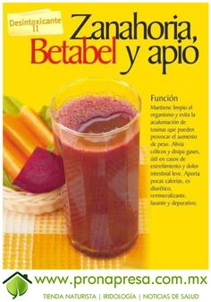 Jugo Natural de Zanahoria, Betabel y Apio: Desinto / Healthy Juices, Healthy Smoothies, Healthy Drinks, Smoothie Recipes, Healthy Eating, Healthy Food, Yummy Drinks, Healthy Habits, Clean Eating