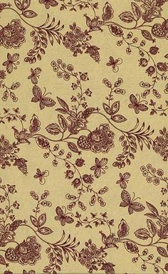 Floral Quilt Back Fabric 46181 tanburg by Marshall Fabric
