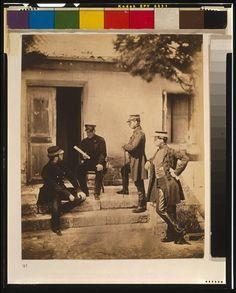 Lieutenant General Sir Harry Jones & Staff,1855,Crimean War,Roger Fenton,photo